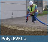 We use PolyLevel concrete stabilization
